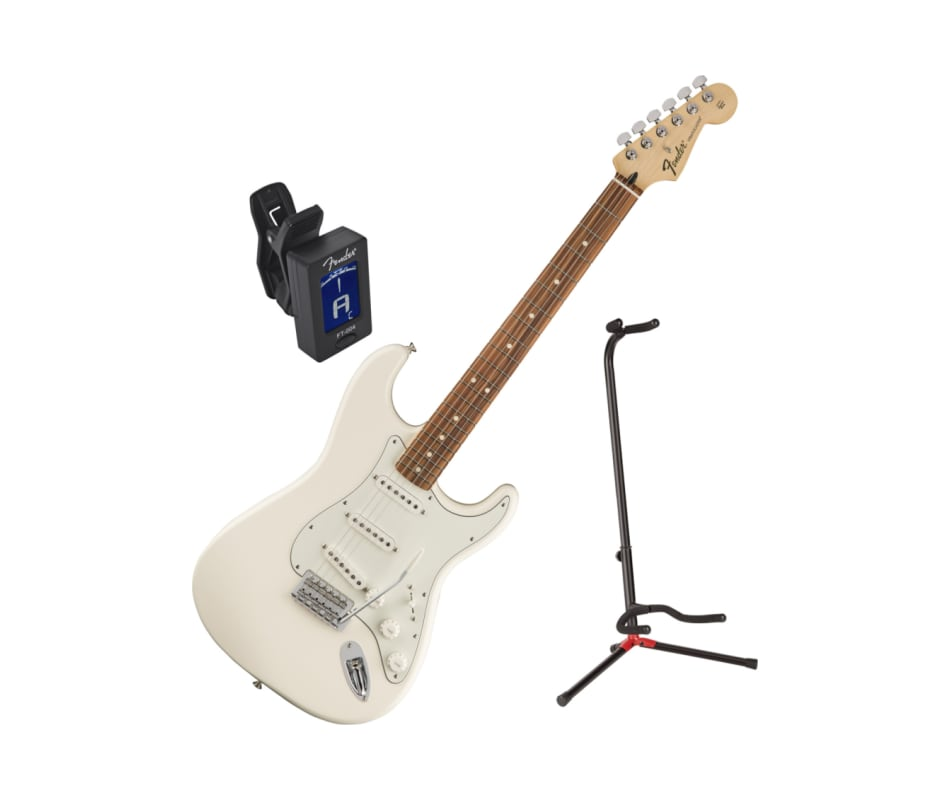 Standard Arctic White Stratocaster Guitar Bundle