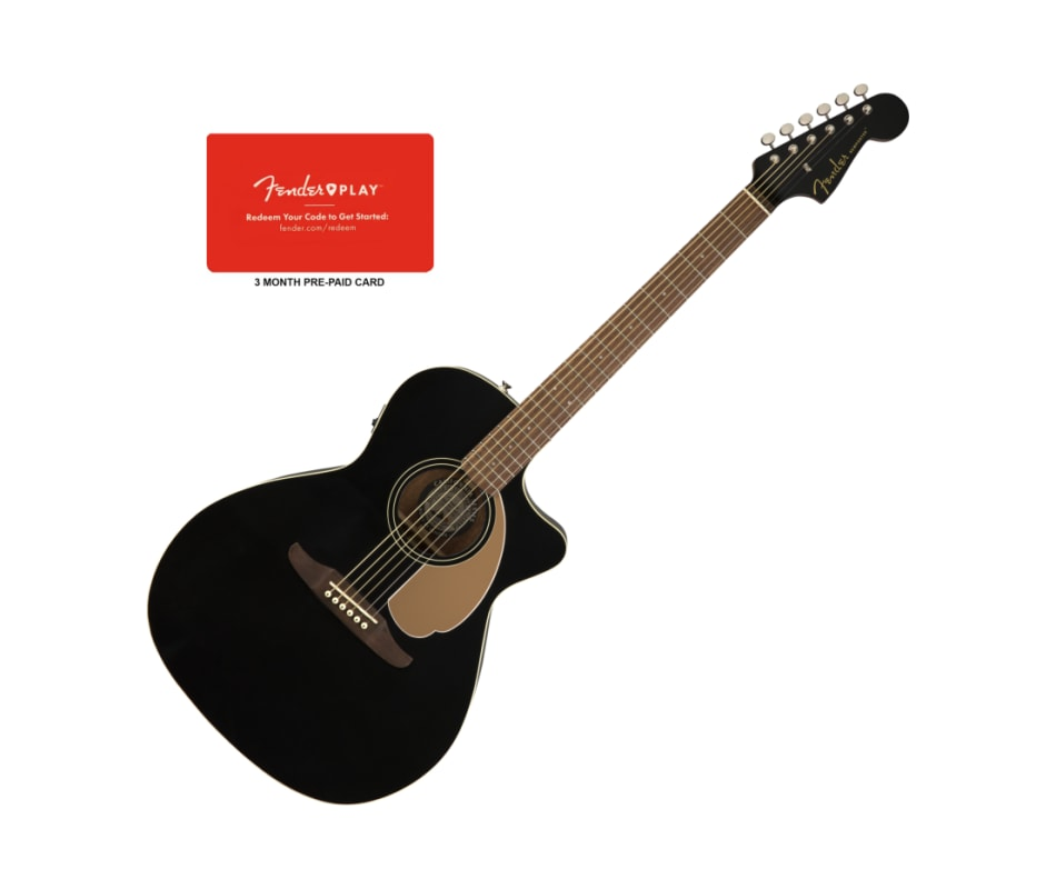 Fender Newporter Player Jetty Black Acoustic-Elect