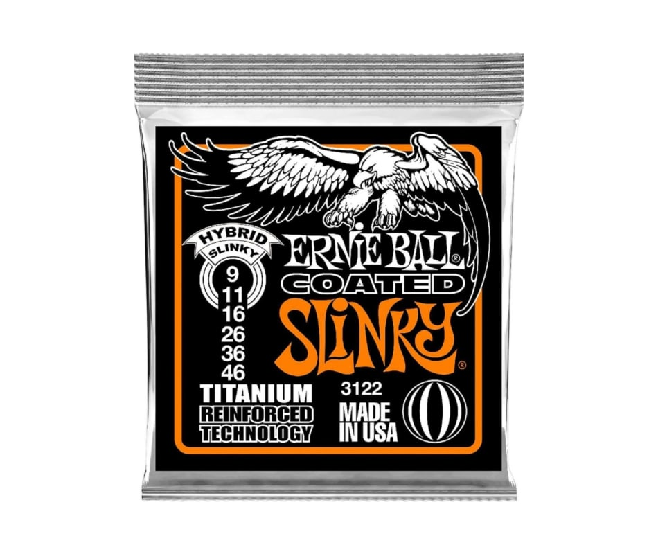 3122 Coated Hybrid Slinky 9-46 Guitar Strings