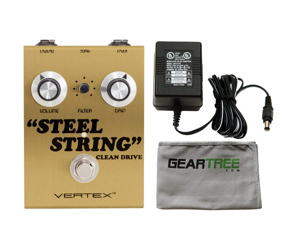 Vertex Steel String Clean Drive Pedal Gold Limited