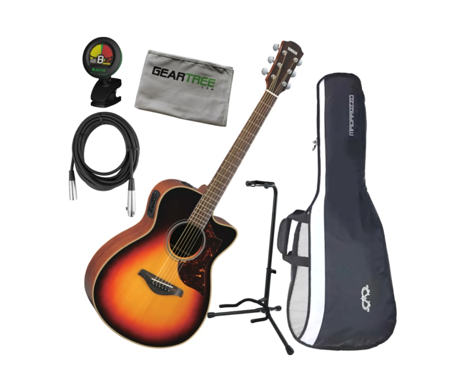 260b81909a AC1MVS Vintage Sunburst Small Body Acoustic Electric Guitar w/ Cloth,  Cable, Stand, Tuner, and Gig Bag