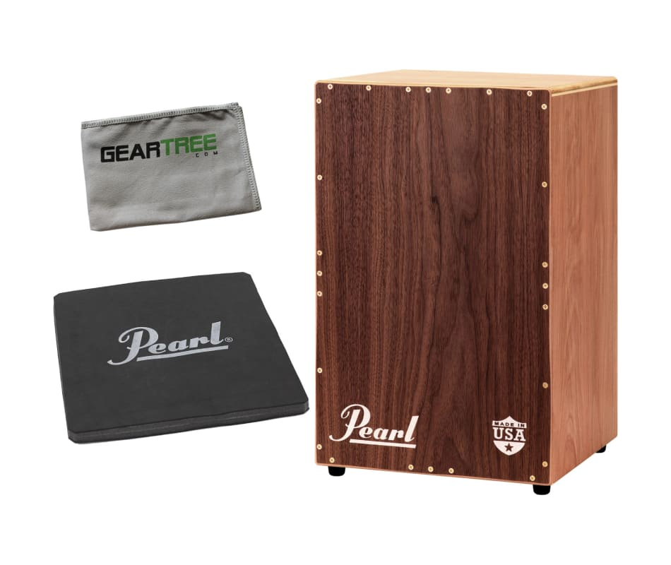 Mach 1 Cajon w/ Tunable Guitar Wire Snares Bundle