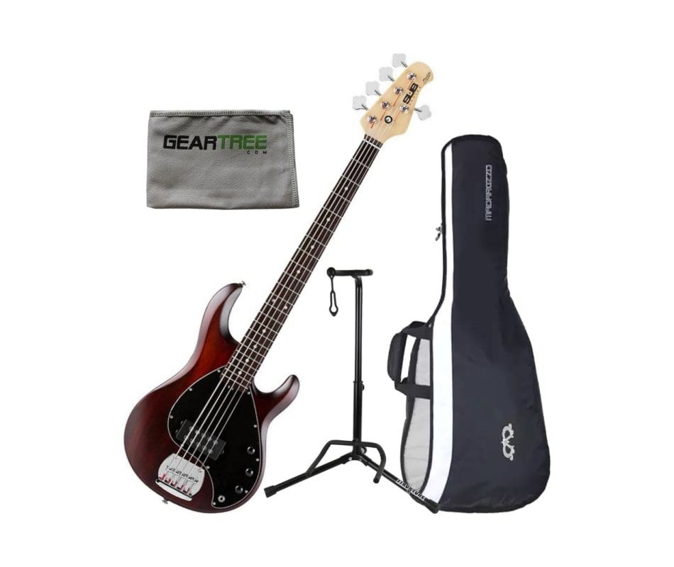 Ray5 WS/M 5-String Maple FB Bass Guitar Bundle