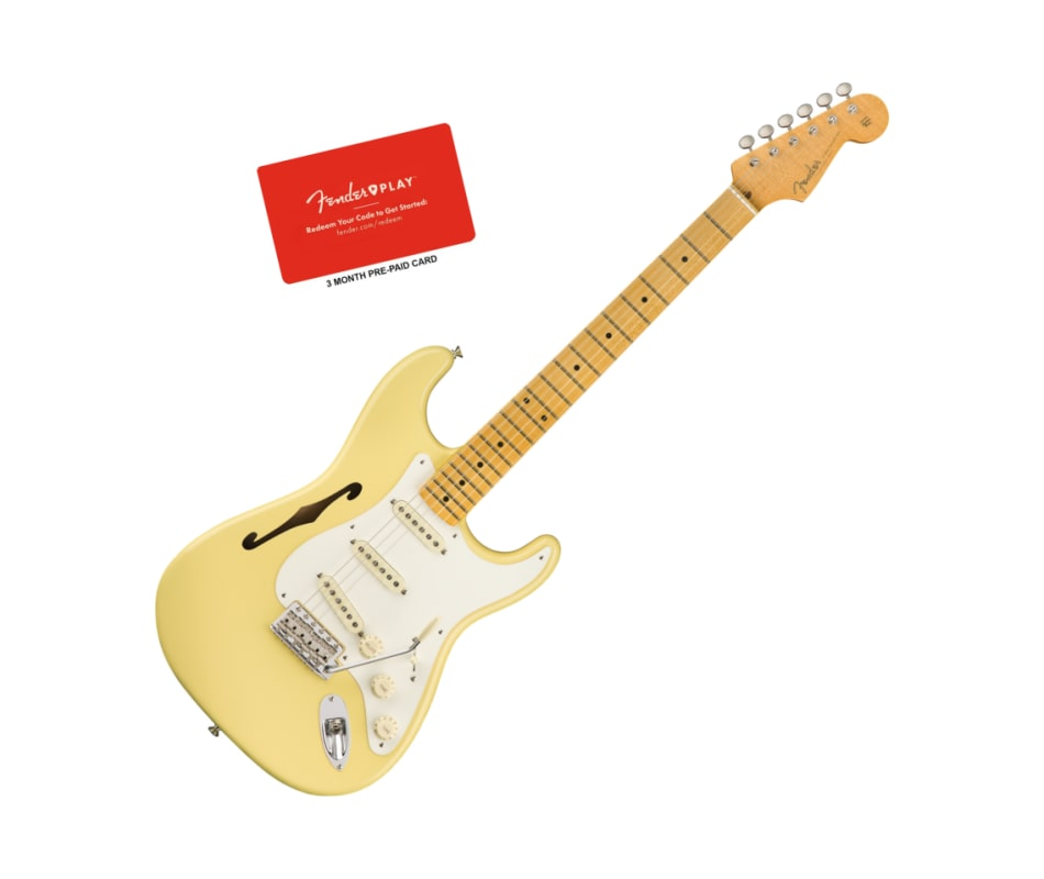 Fender Eric Johnson Vintage White Thinline Stratoc