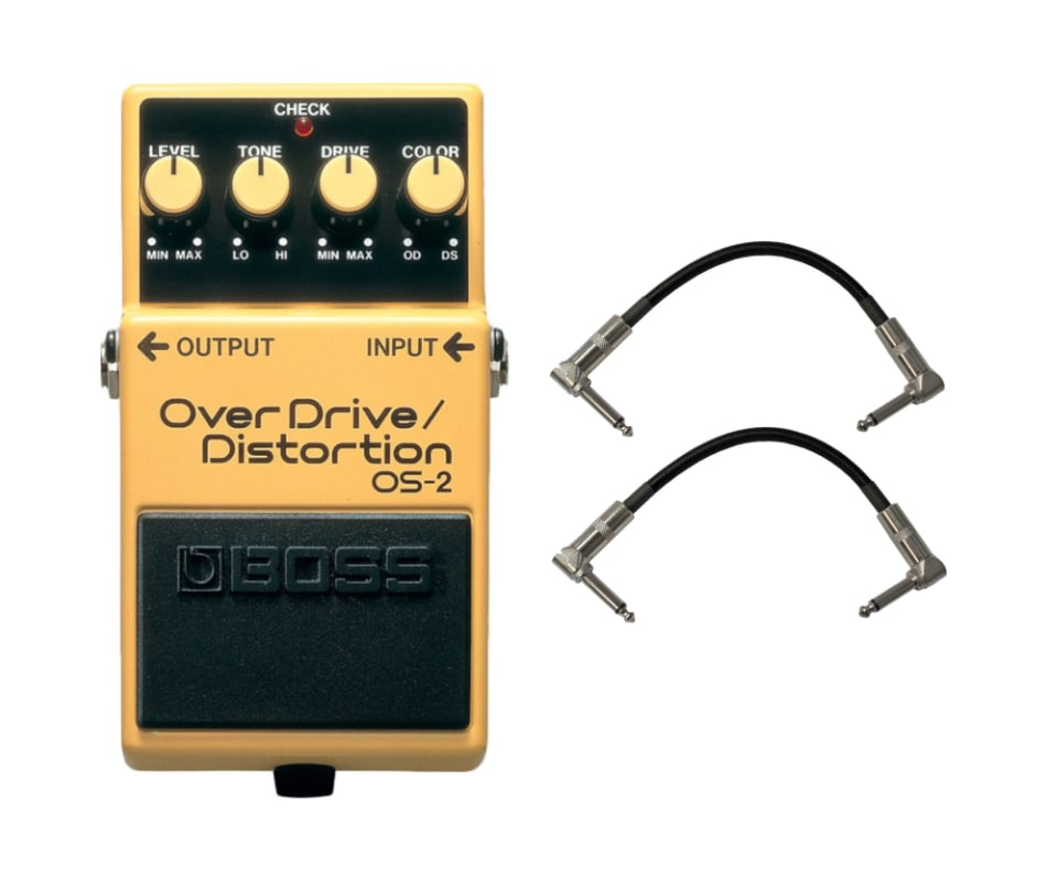 BOSS OS-2 Overdrive + Distortion Pedal w/ 2 Patch