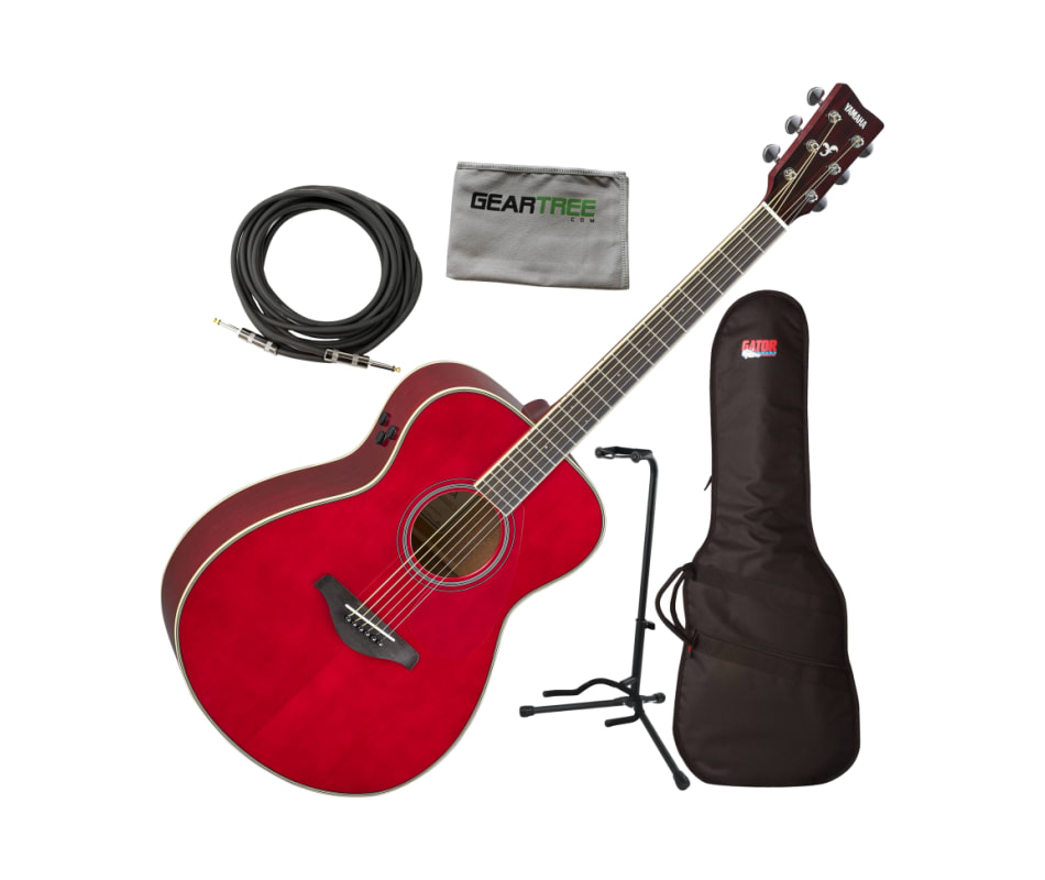 Yamaha FS-TA Concert Ruby Red Transacoustic (w/Cho