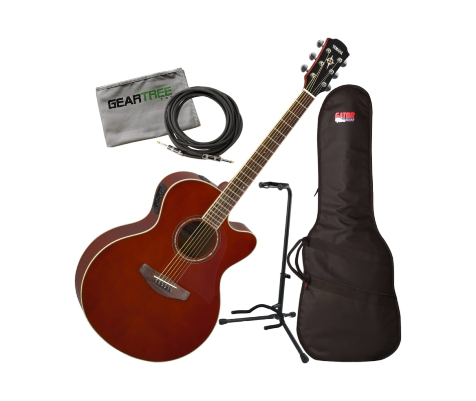 Yamaha CPX600 Medium Jumbo Root Beer Acoustic-Elec