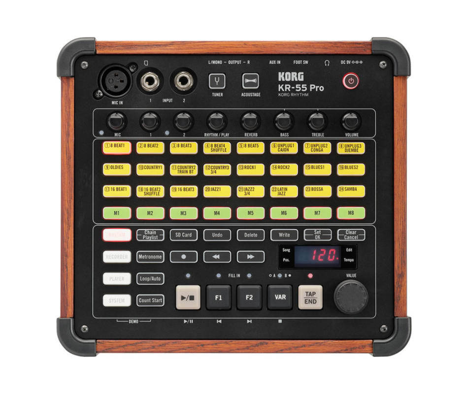 KR-55 Pro Rhythm Drum Machine Synthesizer
