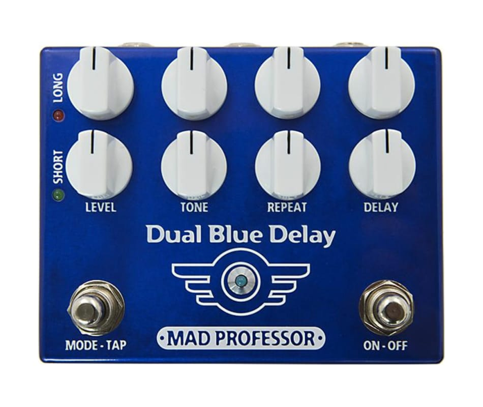 Dual Blue Delay Effect Pedal