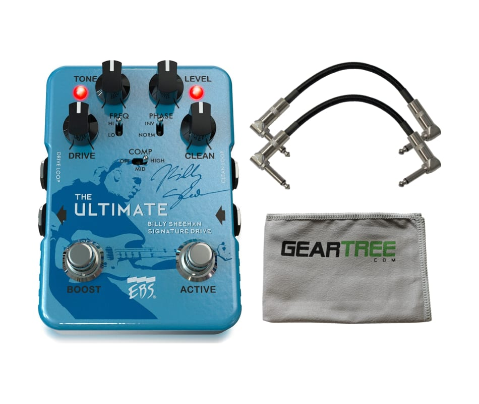 EBS Billy Sheehan Ultimate Pedal w/ 2 Patch Cables