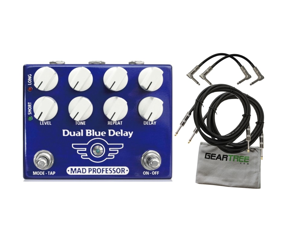 Mad Professor Dual Blue Delay Effect Pedal Bundle