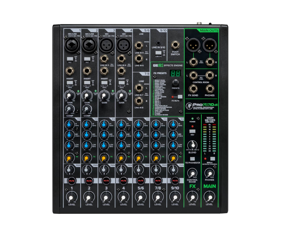 Mackie ProFX10v3 10 Channel Professional Effects M