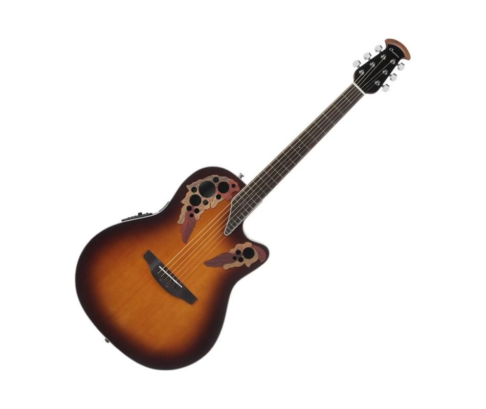 ovation ce48 1 celebrity elite super shallow sunburst acoustic electric guitar. Black Bedroom Furniture Sets. Home Design Ideas