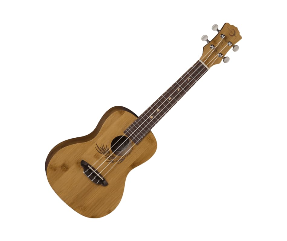 Uke Bamboo Exotic Wood Ukulele w/Gig Bag