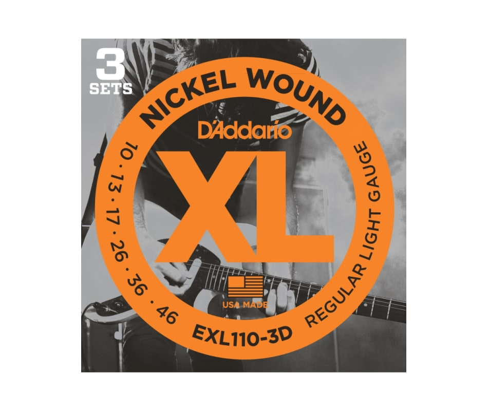 EXL110-3D Nickel Wound Light Electric Strings