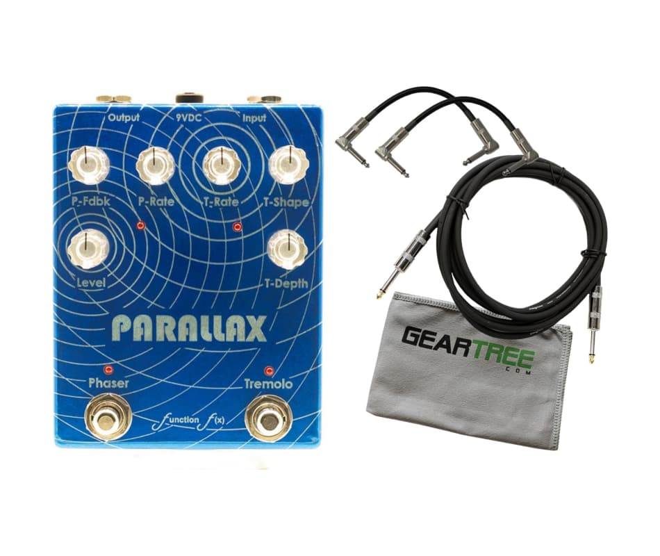 Function-fx Parallax Tremolo Phaser Pedal Bundle w