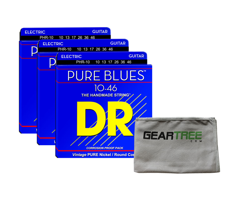 Pure Blues 10-46 Nickel Electric String Bundle