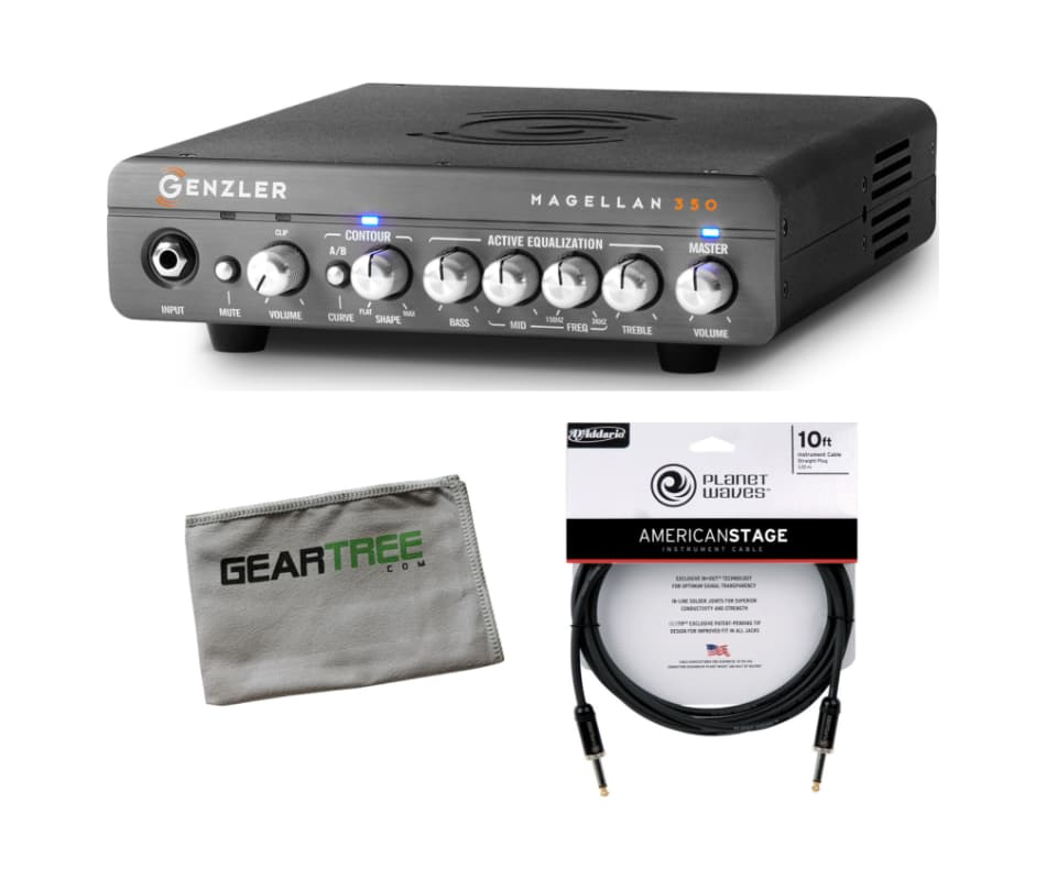 MG-350 Magellan 350W Bass Amplifier Head Bundle