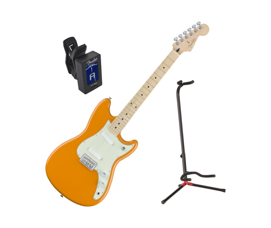 Offset Series Duo Sonic MN Orange Guitar Bundle