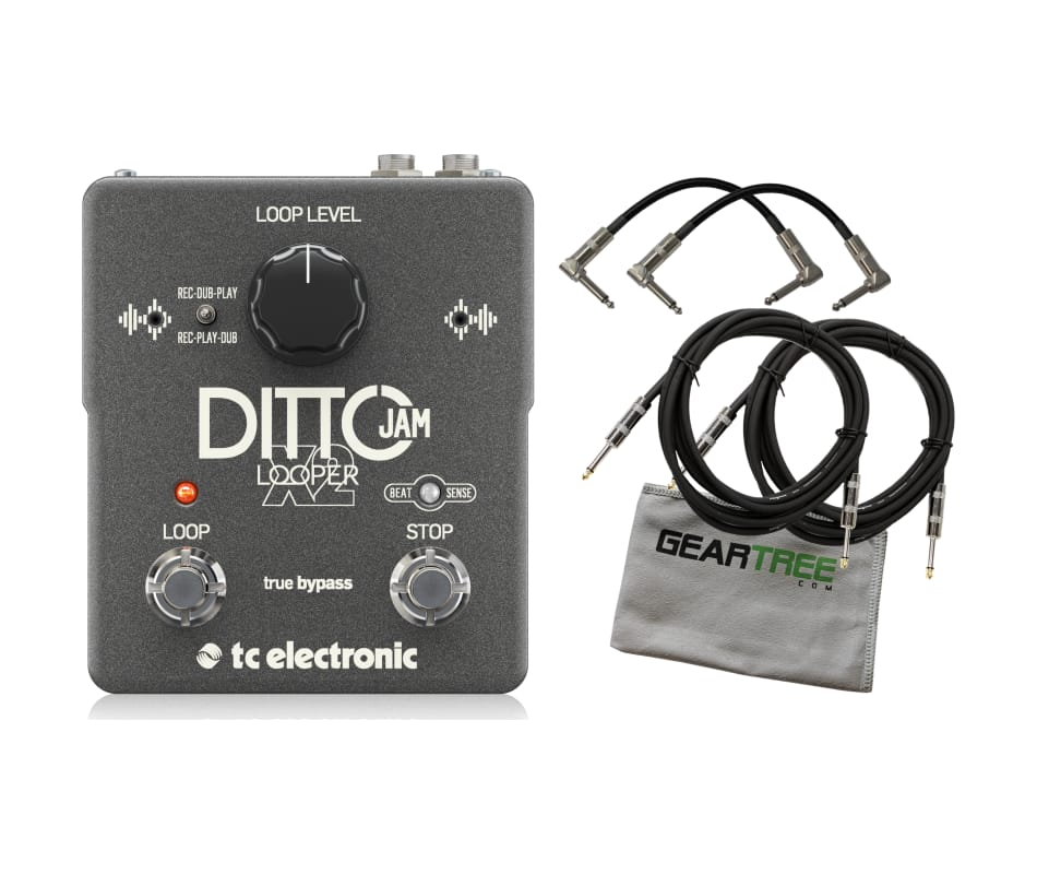TC Electronic Ditto Jam X2 Looper Effects Pedal Bu