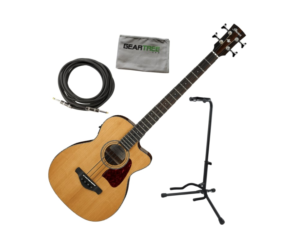 ibanez avcb9ce nt avcb natural acoustic electric bass guitar w cable stand cloth. Black Bedroom Furniture Sets. Home Design Ideas