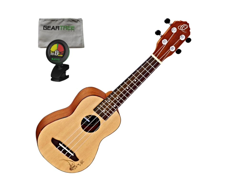 Ortega RU5-SO Bonfire Series Soprano Ukulele with