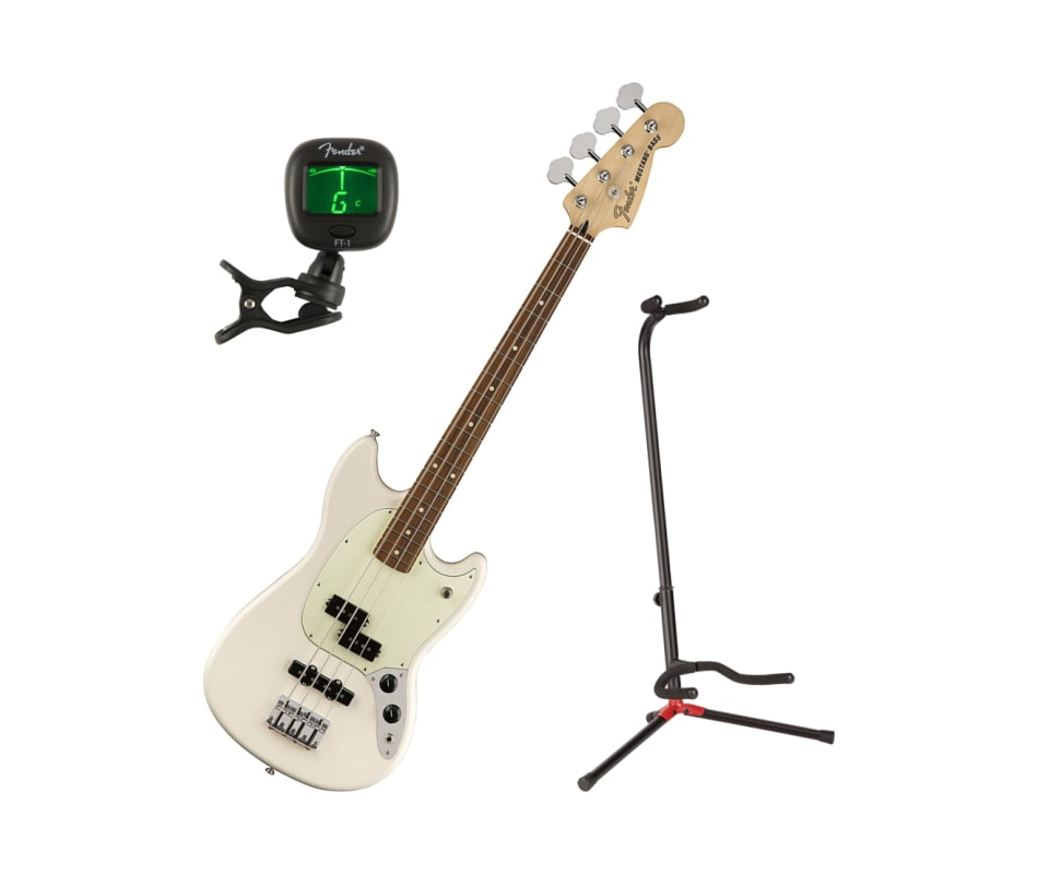 Mustang Bass PJ Fau Ferro OWT Bass Guitar Bundle
