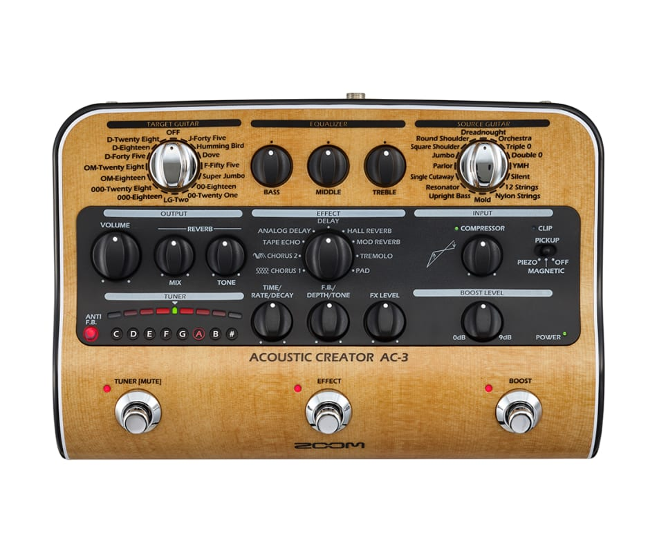 Zoom AC-3 Acoustic Multi Effects and Direct Box