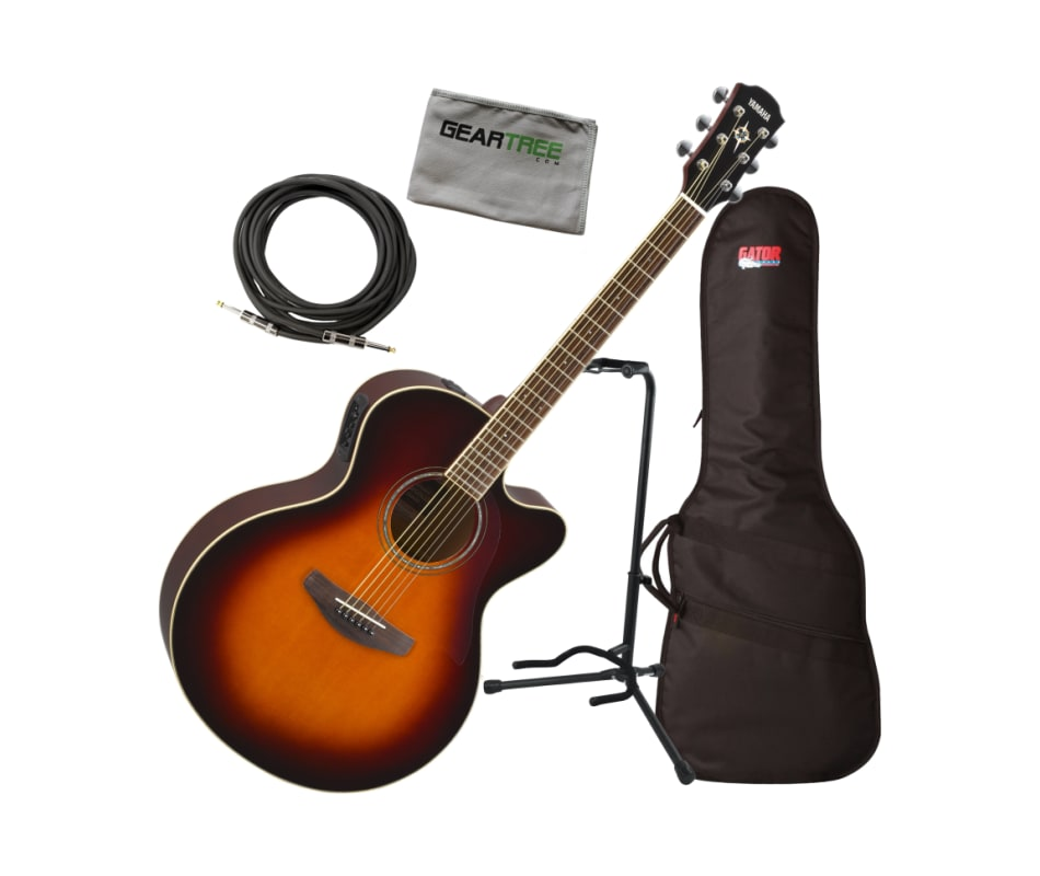 Yamaha CPX600 OVS Medium Jumbo Acoustic-Electric G