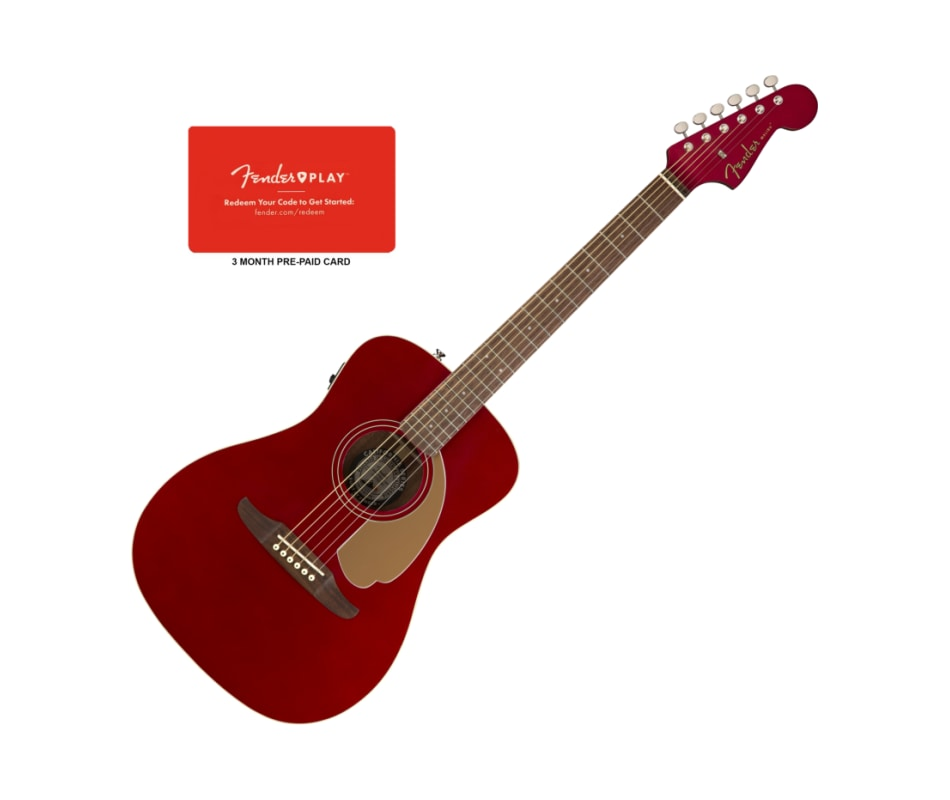 Fender Malibu Player Candy Apple Red Acoustic-Elec