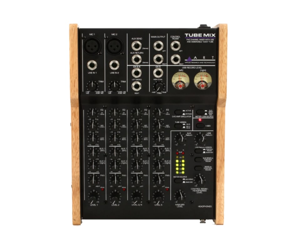 Art TUBEMIX Five Channel Mixer with USB and Tube