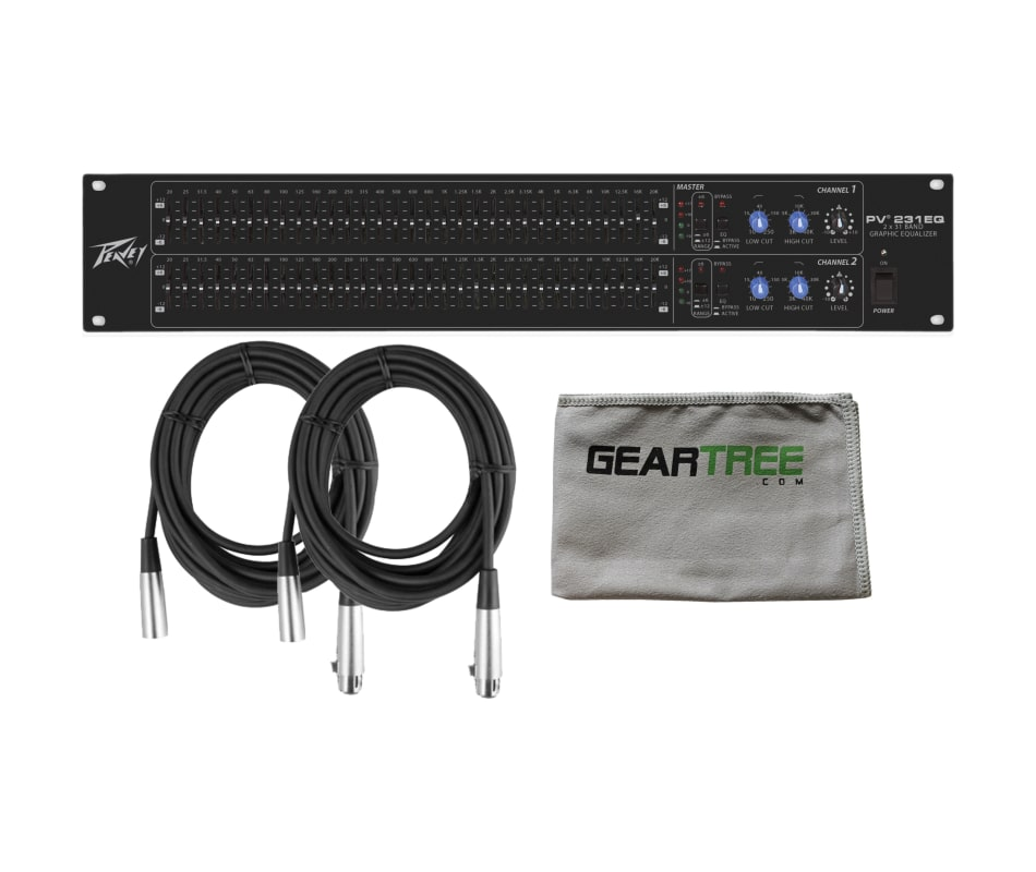PV 231EQ Black Dual 31-Band Graphic EQ Bundle