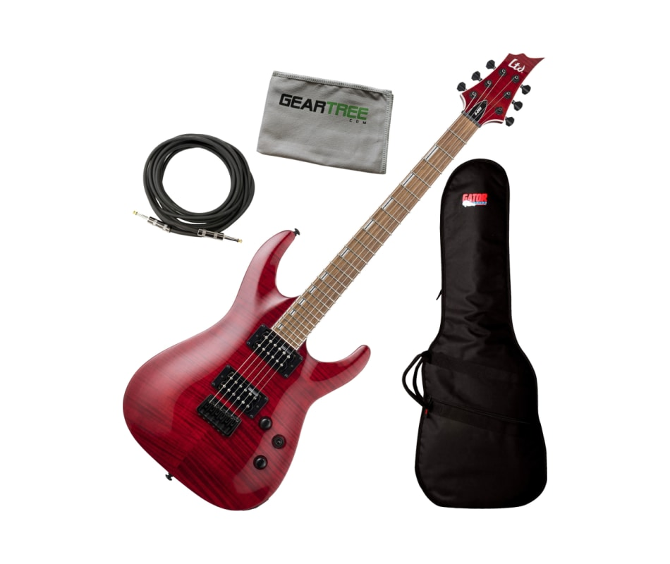 ESP LTD H-200FM H-Series See Thru Red Electric Gui