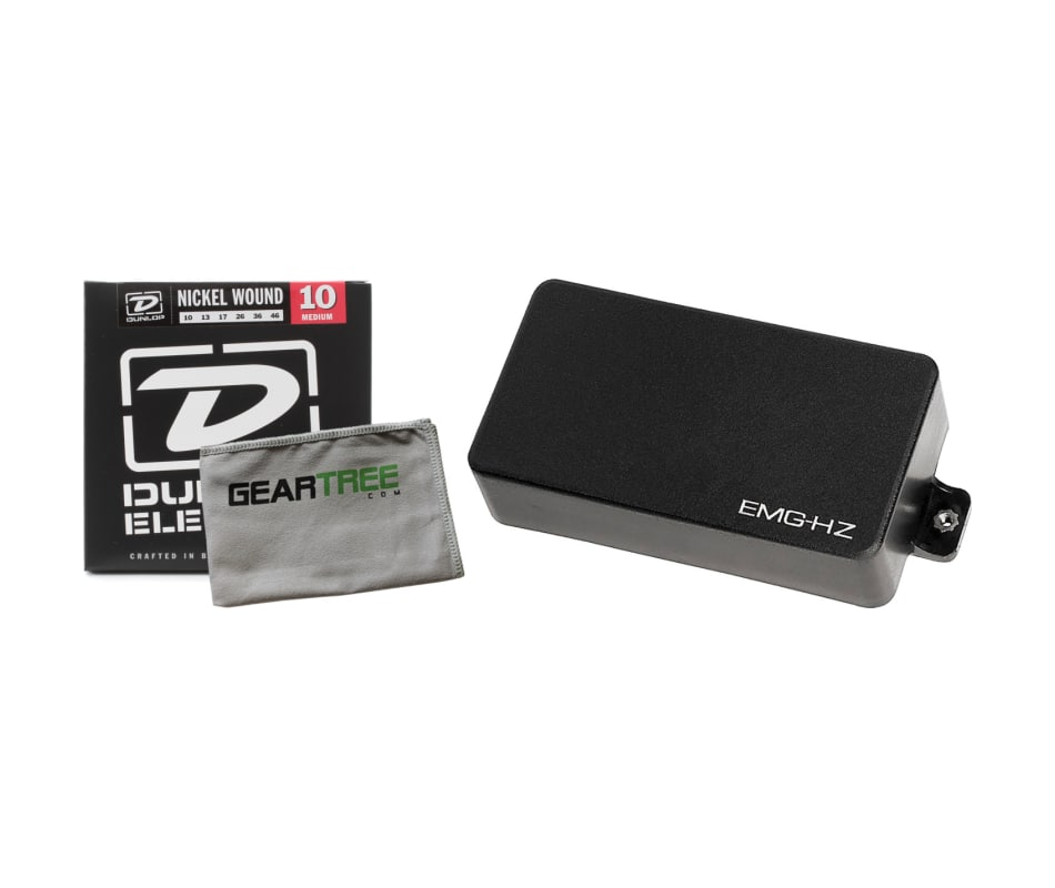 H4 HZ Series BK Humbucker Solderless Pickup Bundle