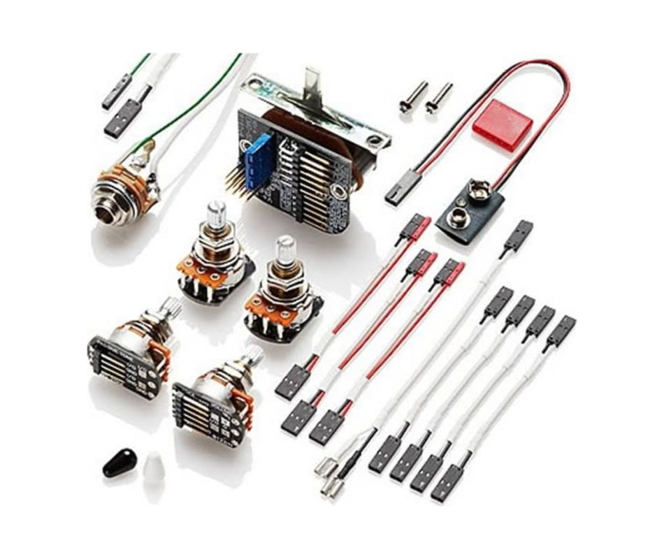 3-Pickup Active Solderless Wiring Kit Short Shaft