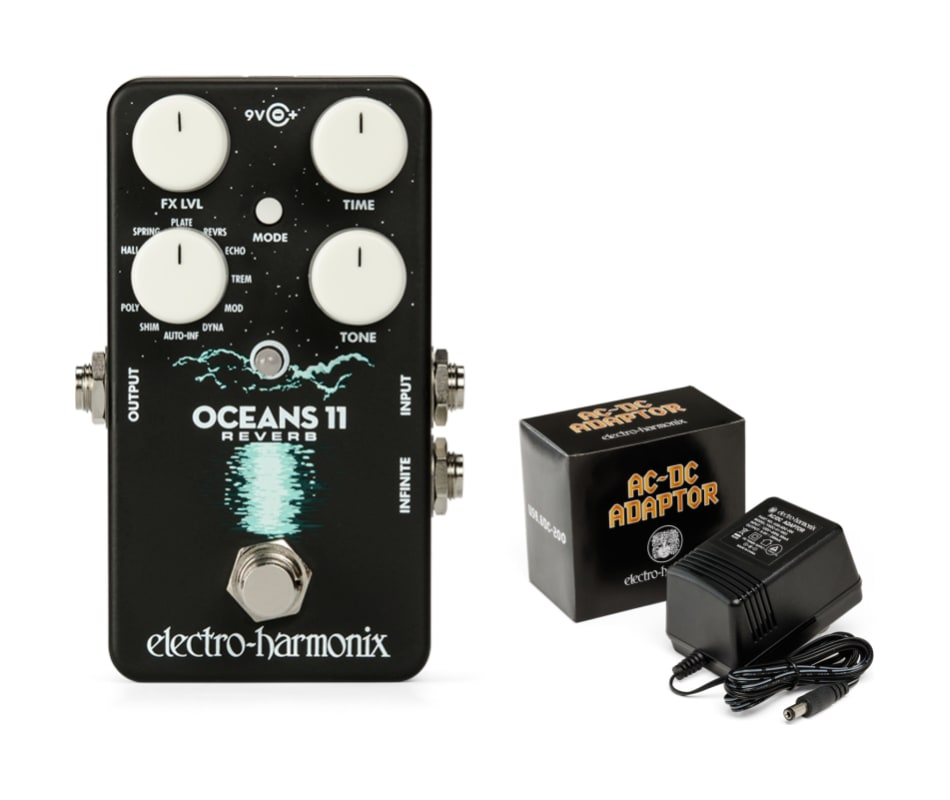 Electro Harmonix Oceans 11 Reverb Effects Pedal w/