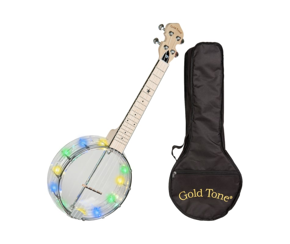 Goldtone LGLT Light-Up Little Gem Banjo Ukulele w/