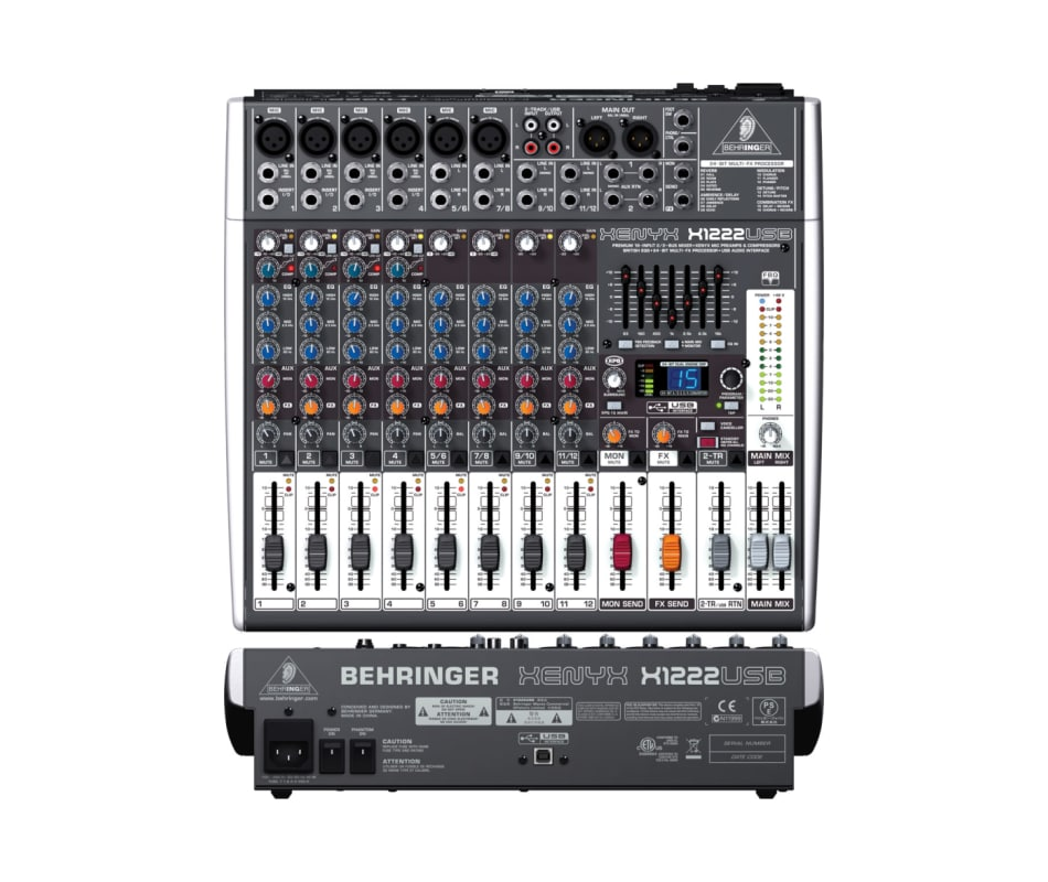 behringer x1222usb mixer compressors eq 39 s 24 bit multi fx usb audio interface software. Black Bedroom Furniture Sets. Home Design Ideas