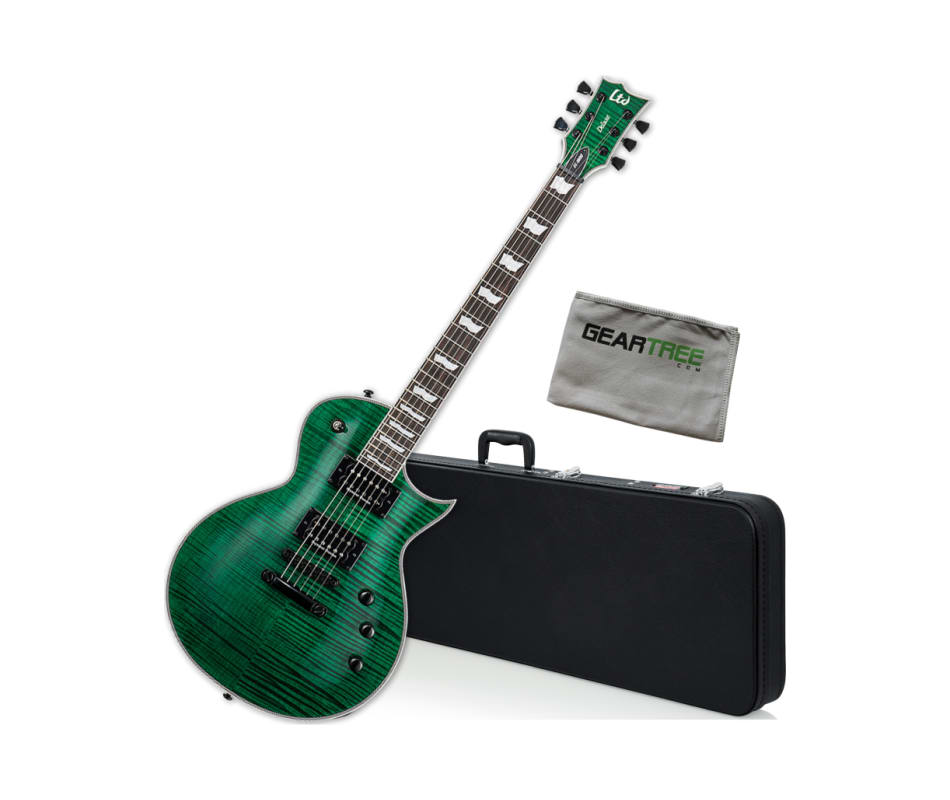 ESP LTD EC-1000FM Duncan See-Thru Green Electric G
