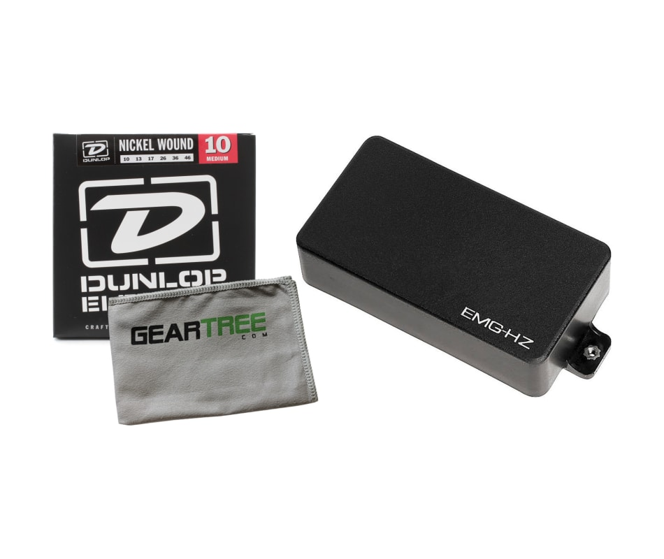 H4A HZ Series Black Humbucker Pickup Bundle