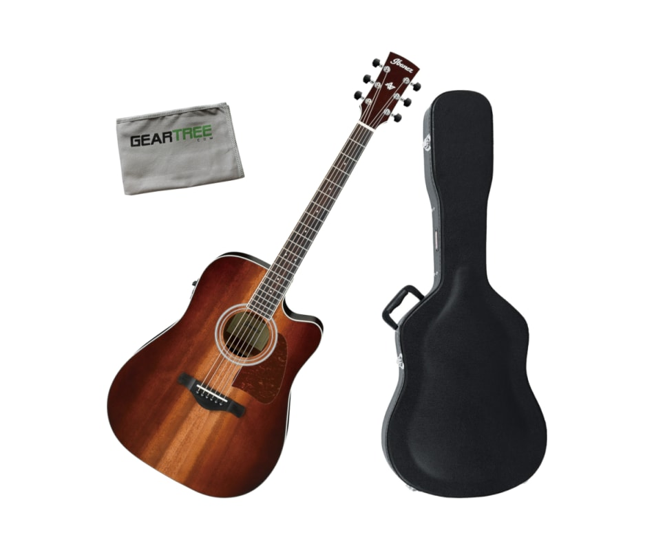 Ibanez AW84CEVNB Solid Okoume Top Acoustic Electri
