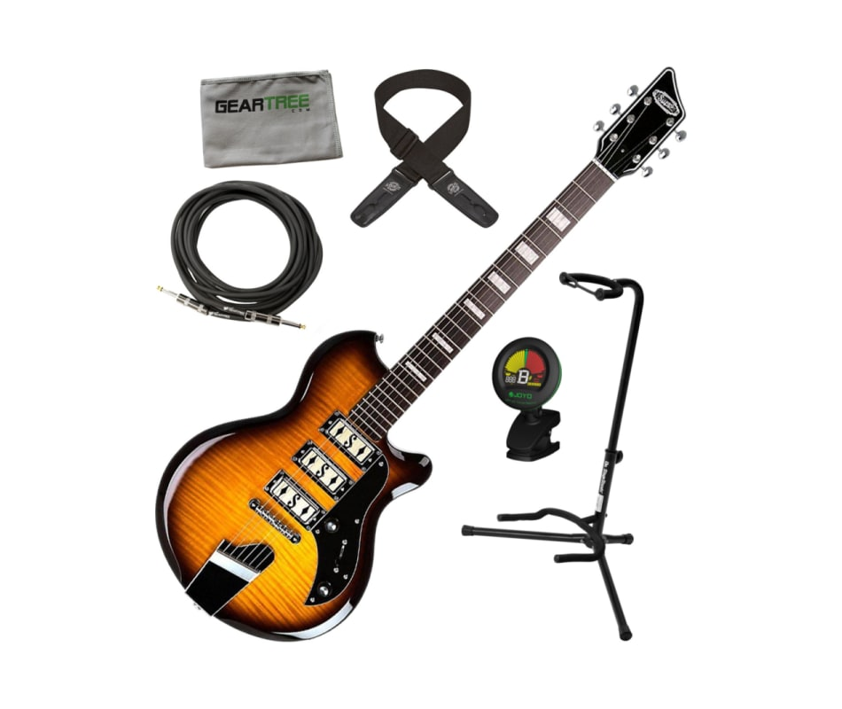 Hampton 2030TS Flame Maple Electric Guitar Bundle