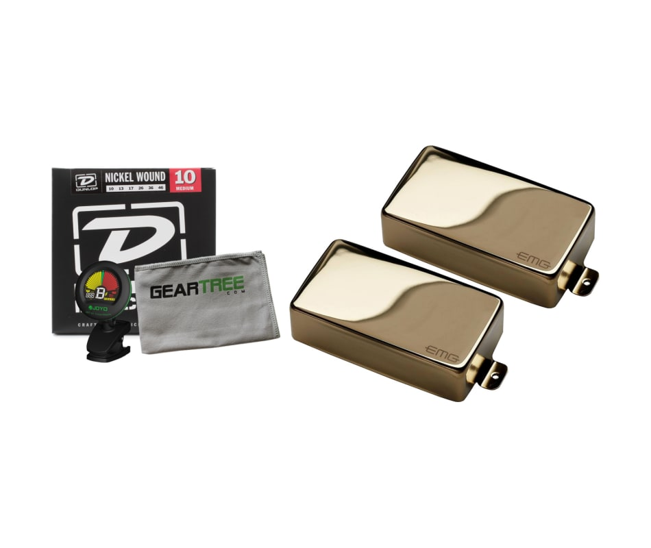 81 Active Humbucker Gold Guitar Pickup Bundle