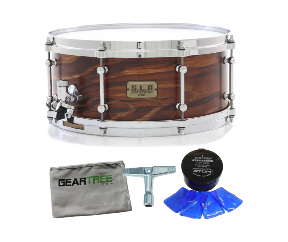 LSP146 S.L.P Fat Spruce 6x14 Snare Drum Bundle