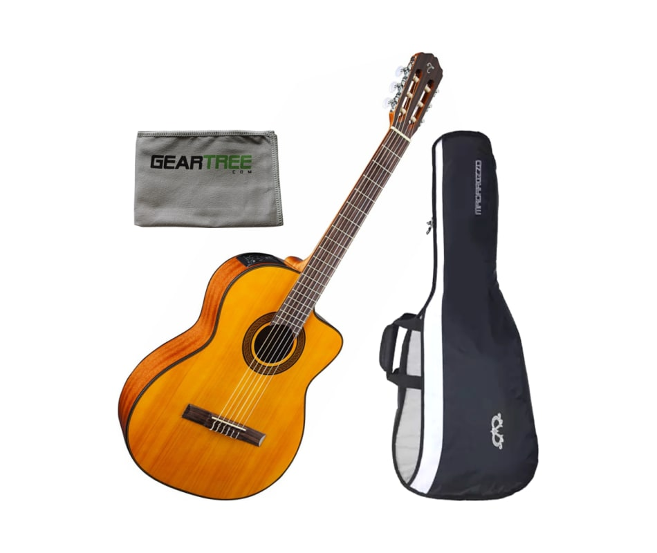 GC3CENAT Classical A/E Guitar Bundle