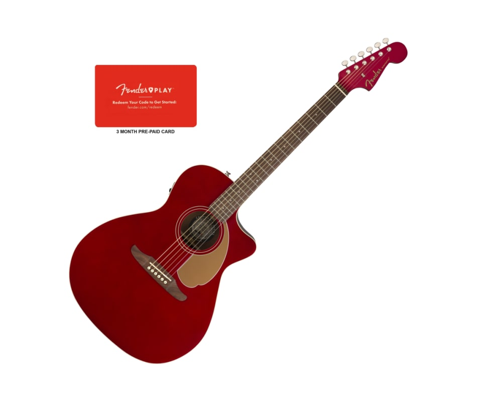 Fender Newporter Player Candy Apple Red Acoustic-E