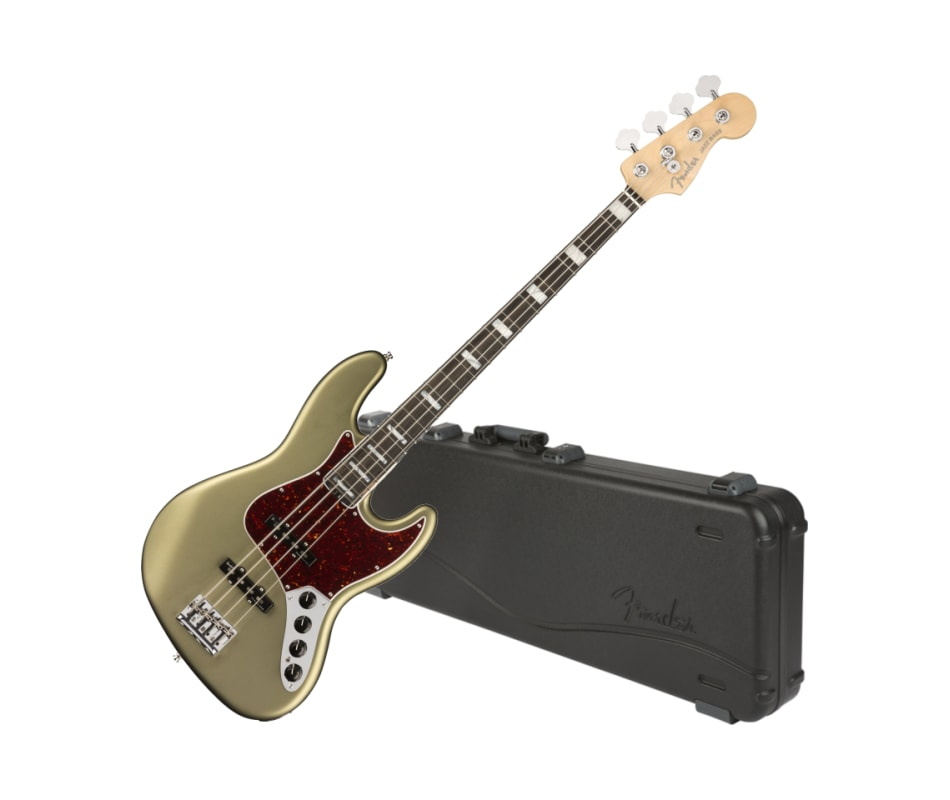 Fender 0197001719 American Elite Jazz Bass, Ebony