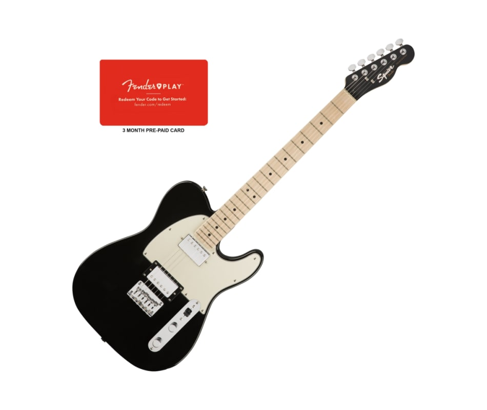 Squier Contemporary Tele Black Metallic HH MPL Gui