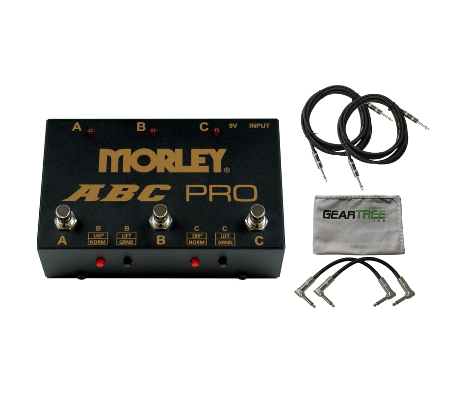 Morley ABC Pro 3-Button Switcher/Combiner Pedal w/