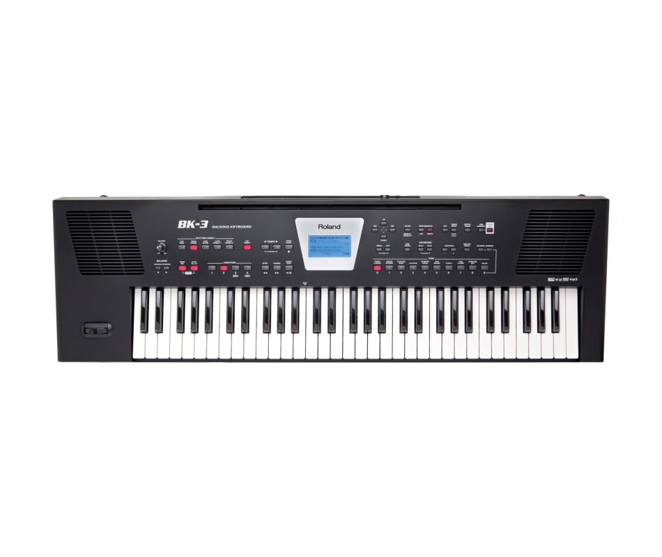 Roland BK-3-BK Arranger, Backing Keyboard with Bui